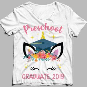 Preschool Graduate 2019 Unicorn Face shirt
