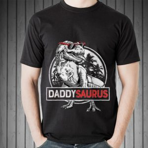 T rex Daddy Saurus Dinosaur shirt
