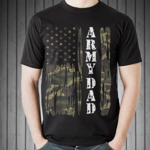 Vintage US Flag Army Dad Veteran Father's Day shirt