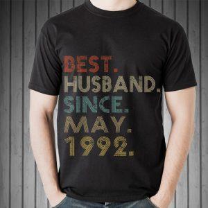 Wedding Anniversary Best Husband Since May 1992 shirt