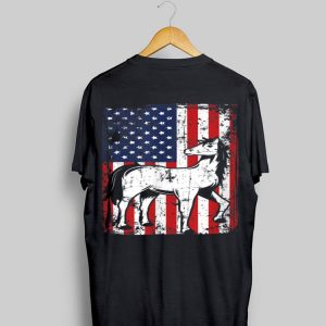 4th Of July American Flag Miniature Horse Lover shirt