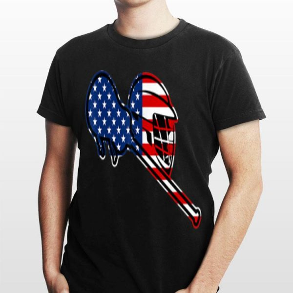 4th Of July American Flag Patriotic Lacrosse shirt