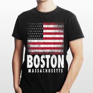 4th Of July Boston Massachusetts American Flag shirt