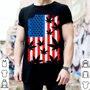 4th Of July Cannabis Leaf Weed American Flag shirt
