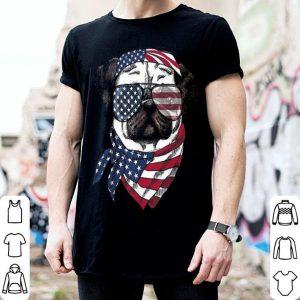 4th Of July Pug America Flag shirt