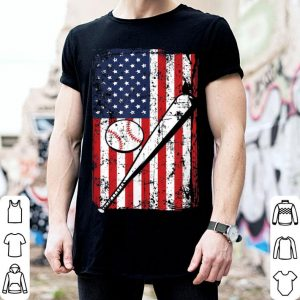4th of July American Flag Baseball Bat Dad Father Day shirt