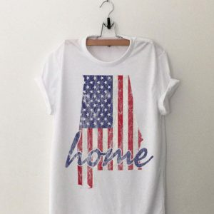 Alabama American Flag Home State Vintage Distressed Look shirt