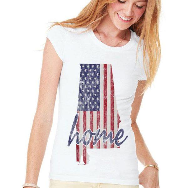 Alabama American Flag Home State Vintage Distressed Look shirt