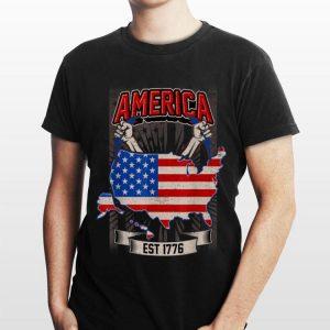 America Est 1776 American Flag shirt