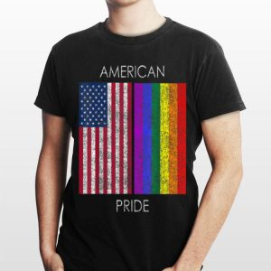 American Pride Faded American Rainbow Flag shirt