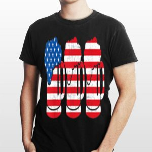 Beer American Flag 4th Of July shirt