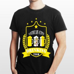 Beer Vatican City Drinking Team Casual Vatican City Flag shirt