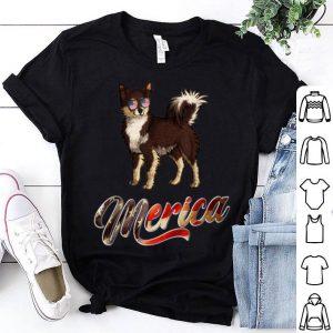 Chihuahua Breed Dog America Flag Patriot shirt