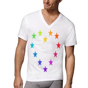 Colorful Europe Symbol Rainbow Eu Heart Stars European Union shirt