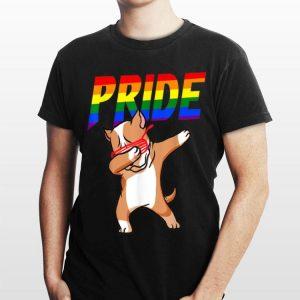 Dabbing Pitbull Lesbian Bisexual Gay Lgbt Pride shirt