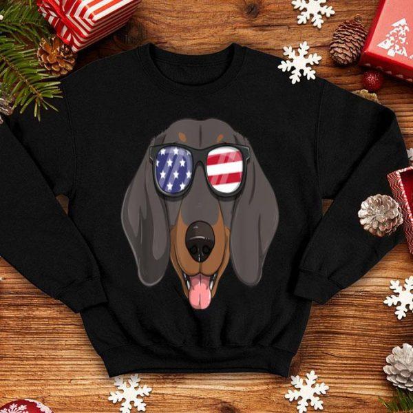 Dachshund Dog Patriotic Usa 4th Of July American Flag shirt
