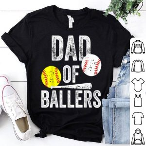 Dad of Ballers Baseball Softball Father Day shirt