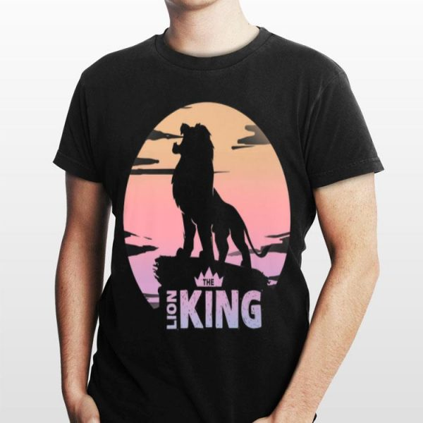 Disney Lion King Simba Crown Logo Gradient Sunset Silhouette shirt