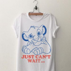 Disney Lion King Simba Just Can't Wait Outline Poster shirt