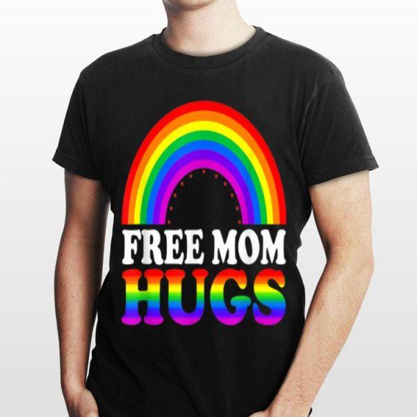 Free Mom Hugs LGBT Rainbow Color shirt