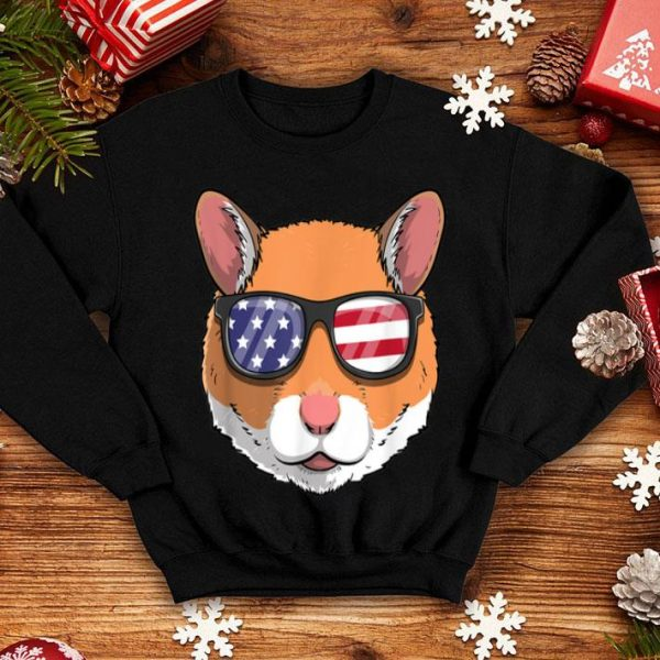 Hamster Patriotic Usa 4th Of July American Cute shirt