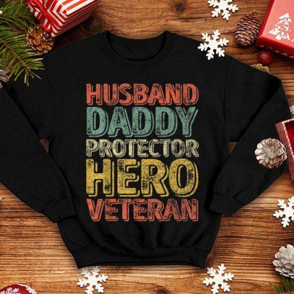 Husband Daddy Protector Hero Veteran Fathers Day shirt