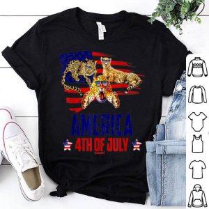 Leopard Patriotic American America 4th Of July shirt