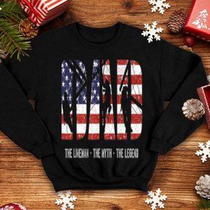 Lineman Dad Myth Legend American Flag shirt