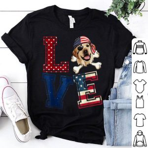 Love Labrador Retriever Pirate Usa Flag 4th Of July shirt