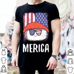 Merica Sushi Sashimi American Flag 4th of July shirt