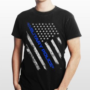 Military Police Thin Blue Line American Flag shirt