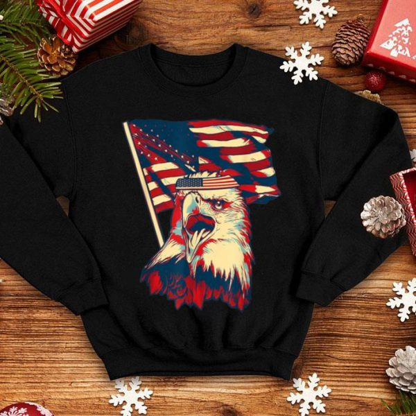 Patriotic Eagle 4th Of July American Flag shirt