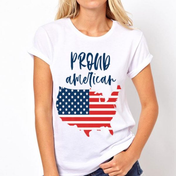 Proud American Fourth of July USA Flag Labor Memorial Day Premium shirt