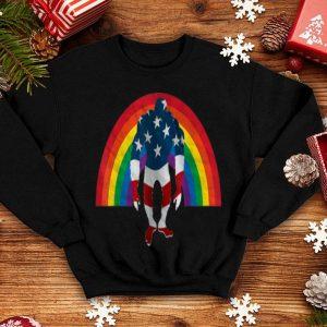 Rainbow Bigfoot American Flag Lgbt Gay Pride shirt
