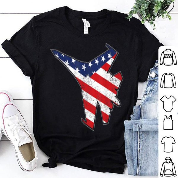 Red White Blue Air Force Flyover USA 4th July shirt