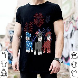 Red White Blue Miniature Schnauzer 4th Of July shirt