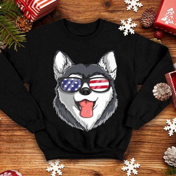 Siberian Husky Dog Patriotic Usa 4th Of July American shirt