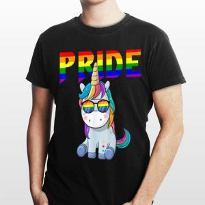 Unicorn Rainbow Flag Sunglasses Gay Pride LGBT shirt