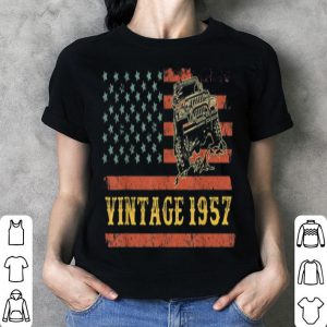 Vintage 1957 Jeeps Birthday Retro USA Jeeps 4th Of July shirt