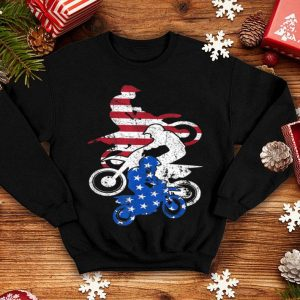 dirt bike 4th Of July Red White Blue motocross USA Flag American Flag shirt