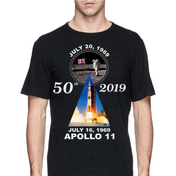 50th 2019 Anniversary Moon Landing Apollo 11 July 1969 shirt
