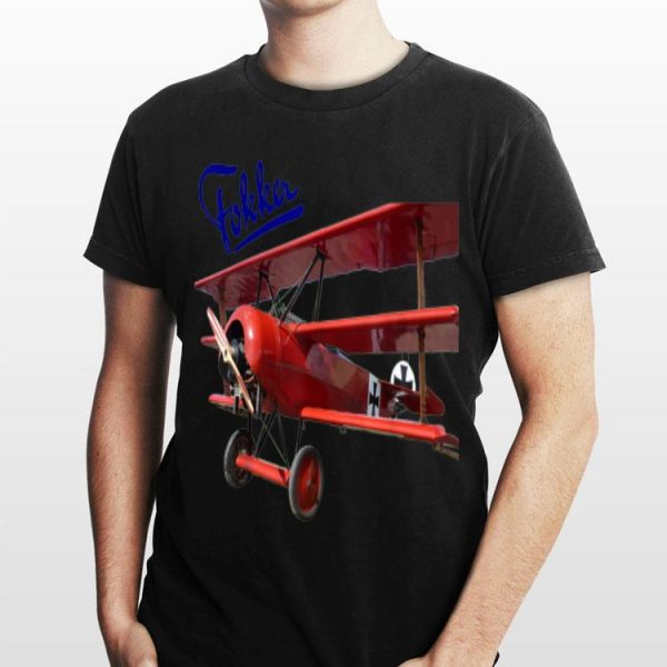 Aircraft Fokker D3 Triplane WW1 Red Baron shirt
