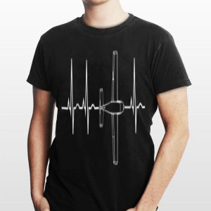 Airplane Flying Pilot Heartbeat shirt