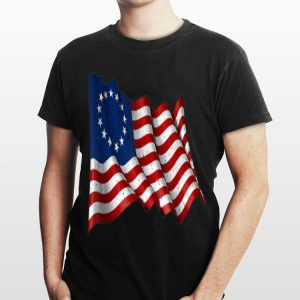 American Betsy Ross Flag Flying 1776 4th Of July Independence Day shirt