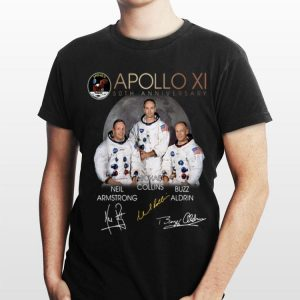 Apollo 11 50th Anniversary Neil Armstrong Micheal Collins Buzz Aldrin Signature shirt