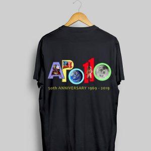 Apollo 50th Anniversary 1969 - 2019 American Flag Earth Moon Astronaut shirt
