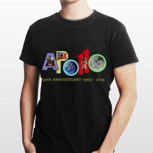 Apollo 50th Anniversary 1969 - 2019 American Flag Earth Moon Astronaut shirt