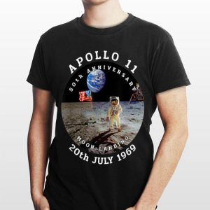 Astronaut Apollo 11 50th Anniversary Moon Landing American Flag 20th July 1969 shirt