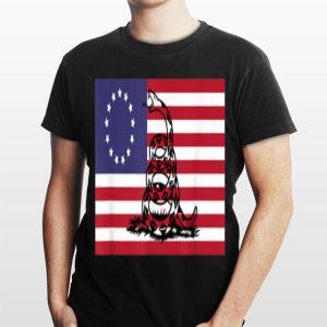 Betsy Ross Flag And Gadsden Snake shirt