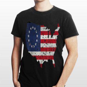 Betsy Ross Flag Apparel USA Shape Revolutionary War shirt